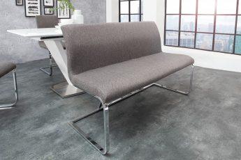 Lavica Hampton 130cm Struktur sivá