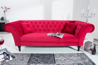 Sofa Contessa 225cm červená zamat