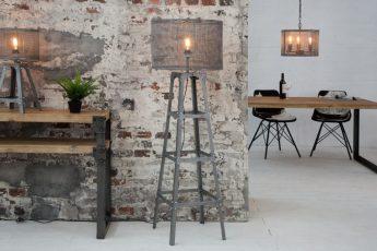Stojanová lampa Loft 155cm iron sivá