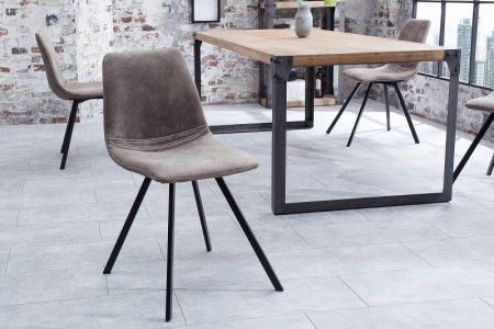 Stolička Amsterdam Retro taupe sivá