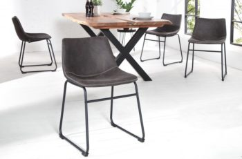 Stolička Django vintage sivá železo