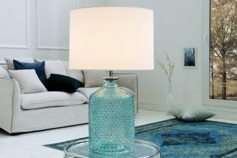 Stolová lampa Classic sklo plátno