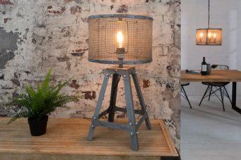 Stolová lampa Loft 60cm iron sivá