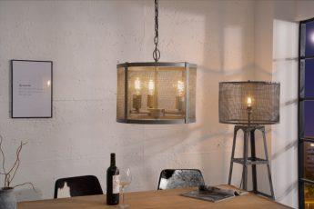 Závesná lampa Loft 40cm iron sivá