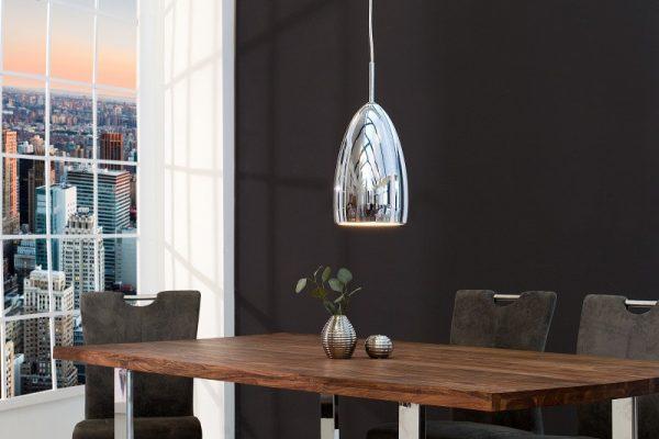 Závesná lampa Tear S LED strieborná