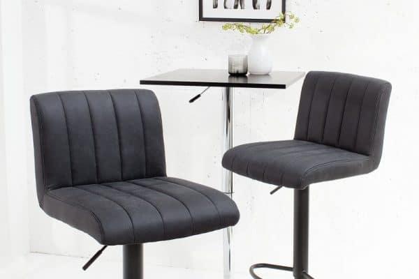 Sivá barová stolička Portland »
