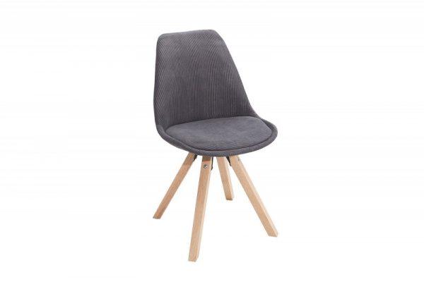 Tmavosivá jedálenská stolička Scandinavia Cord »