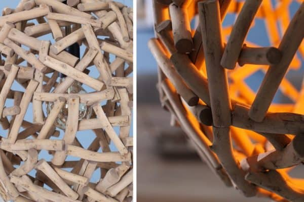 Závesná lampa Pure Nature z naplaveného dreva »