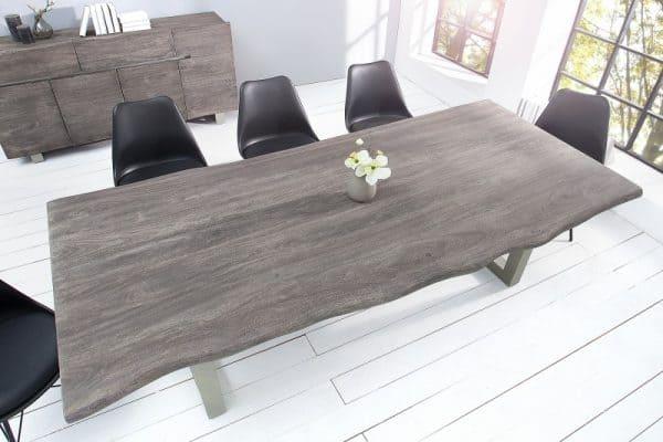 Jedálenský stôl Mammut 240cm sivá agát