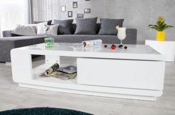 Konferenčný stolík Fortuna 120cm biela