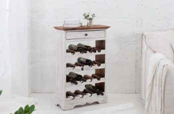 Regál na víno La Fleur biela mahagón