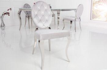 Stolička Modern Barock sivá