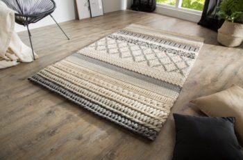 Teppich Yarn 200x120cm sivá Strickmuster