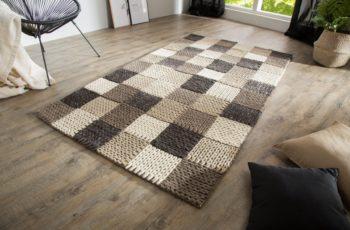 Teppich Yarn III 200x120cm sivá Patchwork