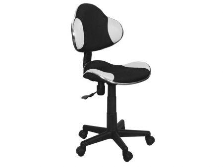 Otočná stolička Q-G2 - čierno-biela