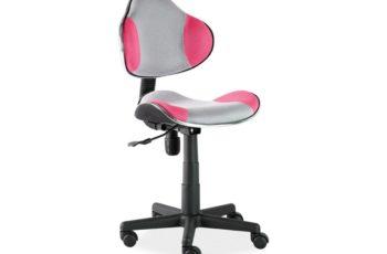 Otočná stolička Q-G2 - šedo-ružová