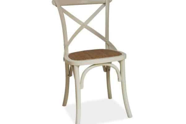 Stolička Lars - biela