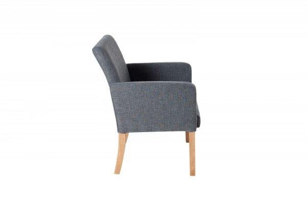 Tmavosivá jedálenská stolička Valentino »