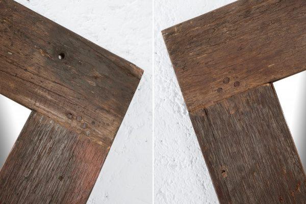 Zrkadlo Hemingway recyklované drevo 120 cm