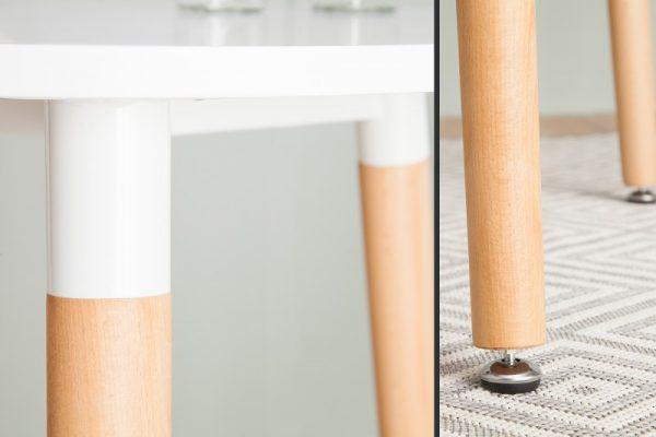 Barová stolička Scandinavia 105cm biela buk