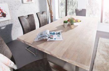 Jedálenský stôl Wotan 180cm dub gek. ušľachtilá oceľ