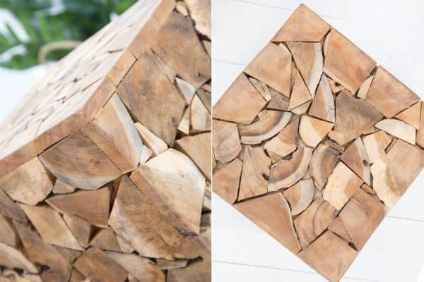 Konferenčný stolík Mosaik 45cm - teakové drevo