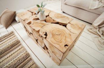 Konferenčný stolík Square 80cm - teakové drevo