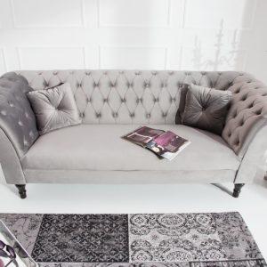 Sofa Contessa 225cm striebornošedá zamat