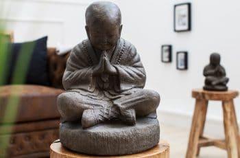 Statue Shaolin Buddha 40cm Naturstein