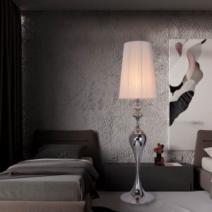 Stojanová lampa Lucie 160cm biela