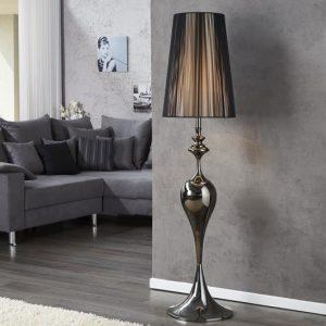 Stojanová lampa Lucie 160cm čierna