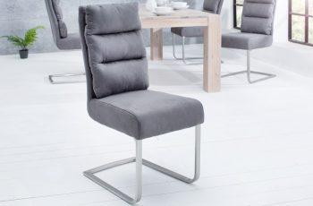 Stolička Comfort Vintage sivá