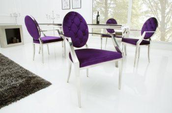 Stolička Modern Barock lila