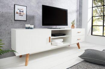 TV-stolík Scandinavia 150cm biela