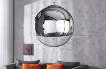 Závesná lampa Globe 30cm strieborná