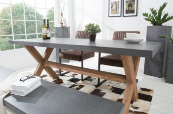 Jedálenský stôl Cement 180cm agát