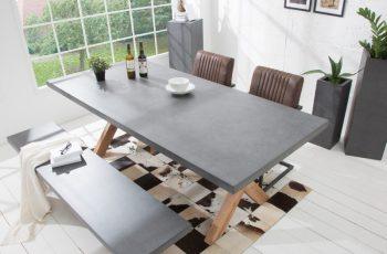 Jedálenský stôl Cement 220cm agát