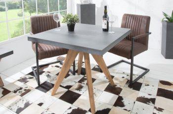 Jedálenský stôl Cement 90cm agát