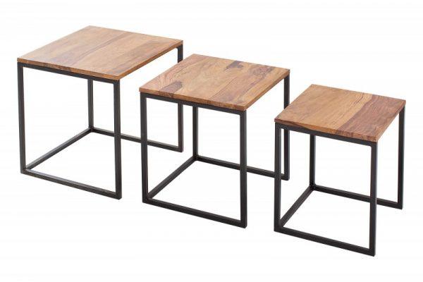 Konferenčný stolík Fusion set 3ks sheesham