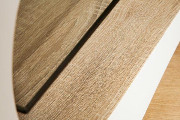 Konferenčný stolík Manhattan 110cm biela dub