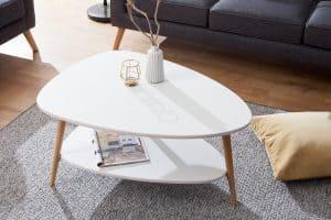 Konferenčný stolík Scandinavia biela dub