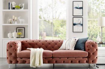 Sofa Modern Barock 238cm apricot