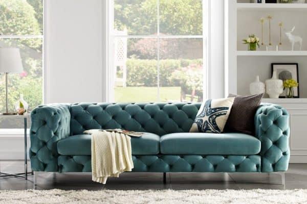 Sofa Modern Barock 238cm aqua