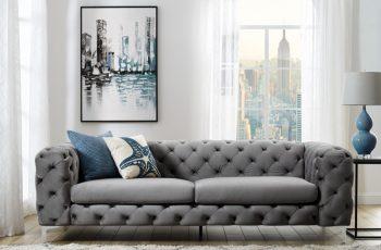 Sofa Modern Barock 238cm sivá
