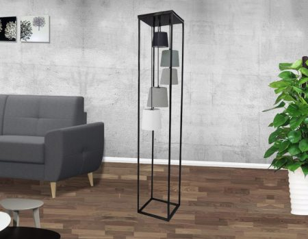Stojanová lampa Levels II čierna sivá