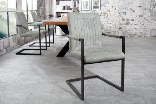 Stolička Bristol stone sivá Armlehne