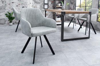 Stolička Lucca stone sivá