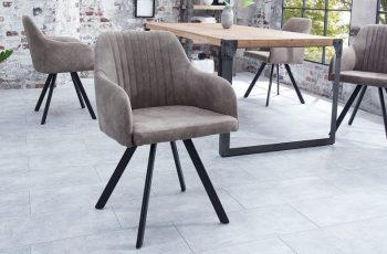 Stolička Lucca taupe sivá
