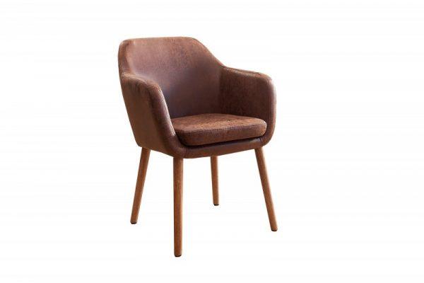 Stolička Supreme vintage hnedá