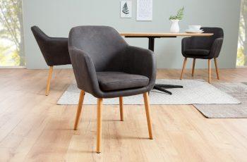 Stolička Supreme vintage sivá